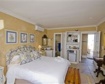Fresh Blue Room has a small balcony and direct access to the swimming pool
