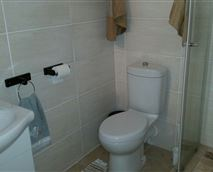 Unit A bathroom with shower