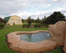 View across the pool of unit 9 Venus