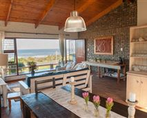Dining room with sea view seating 10