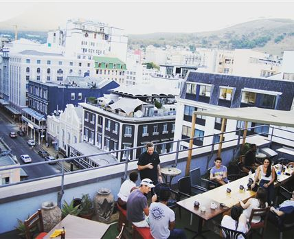 Rooftop Terrace © (c) HomeBase South Africa Hostels