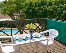 Or you can set up the table on your own private deck upstairs and enjoy the mountain and sea views.