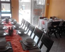 Our dining area