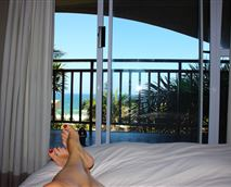 The gorgeous view from the master bed