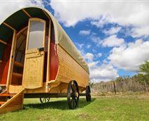 Hand-made gypsy wagon