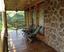 Built with Timber n Volcanic stones © @Rushaga
