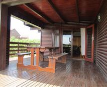 Deck leading from the lounge.