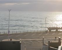 View of margate fishing pier from the balcony