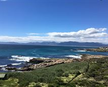 Beautiful view on the Walker Bay. Looking over at the mountains in Hermanus