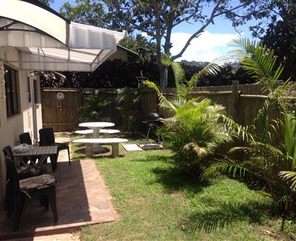 Private Garden with access to braai area and skottel.  © Chez Nous
