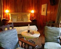 Eclectic styled rooms (luxury cabin featured)