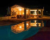 Pool and lapa at night