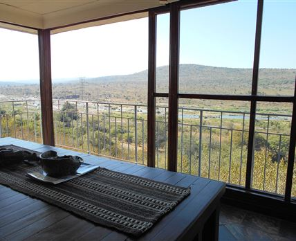 Vista from the balcony.