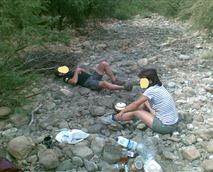 relaxing river picnic © mine
