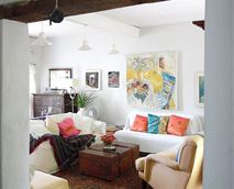 Comfy, airy sitting room that opens on to the back patio © Destination McGregor