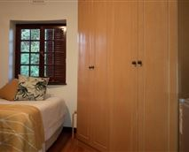 3/4 size proper bed with large closet, microwave, bar fridge and kettle