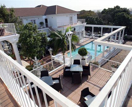 Balcony and pool