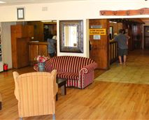 Reception area at Horseshoe Inn, Kimberley