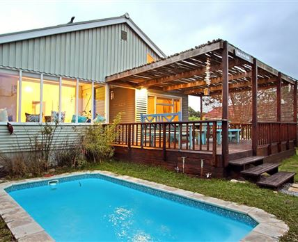 A pool to cool off in the hot months and sundowner deck © John Carne