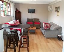 53sqm in size, open plan kitchen lounge area with sleeper couch for extra accommodation
