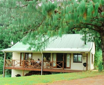 The largest cottage, 2 double bedrooms and sofa bed.