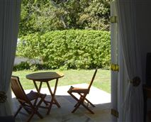 View from lounge / kitchenette across to Constantia valley green belt
