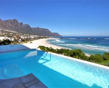Swimming pool and beach view.