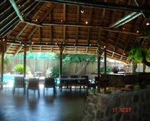 Lapa and outside bar area where people can enjoy the African bush ambiance, and have  a drink at the bar after a long day.