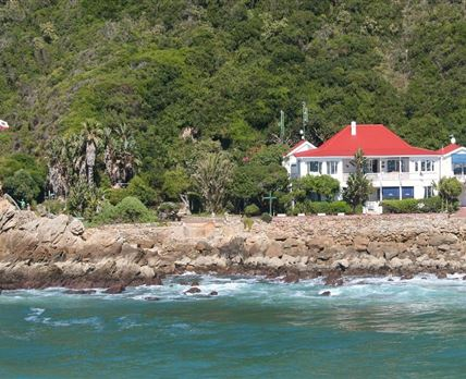 View from sea.The closest accommodation to the sea in Africa. © Yes