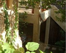 The Shaded courtyard garden offers a great place to Breakfast in and peace and shade out of the heat.
