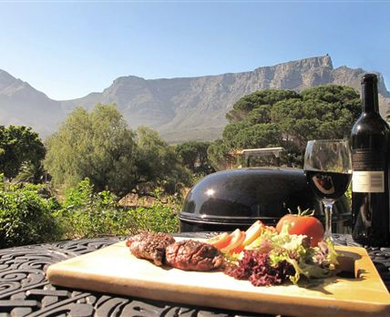 Barbecue with a Table Mountain view