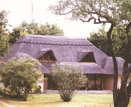 <div>Bushbuck River House front view</div> © cpoyright Nomad African Travel