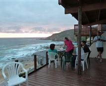 The deck with a braai