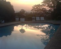 The inland views from the cottage are superb - gorgeous sunsets unfold!!<br />The large 18m swimming pool is off the main house.