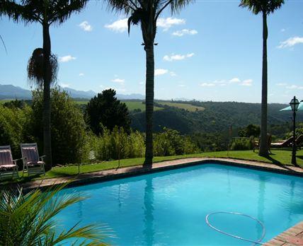 Pool and mountain views
