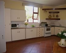 Spacious and light fully equiped kitchen for all self catering needs.