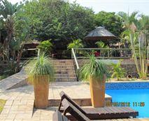 Tea Garden tables above the main pool