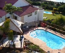 The swimming pool, located next to the braai area, to relax in the hot summer months