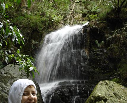 Waterfall, happiness is