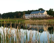Clubhouse from across Clubhouse Lake.