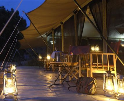 Porini Lion Camp is located in