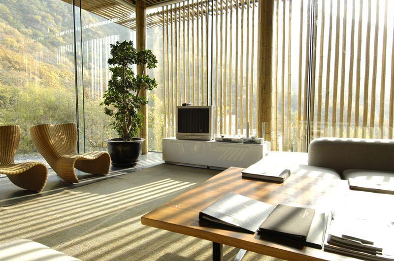 Colourful manor luxury lodge for Salle de bain zen bambou