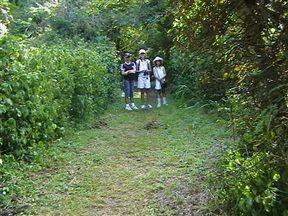 Young birders enjoying a hike