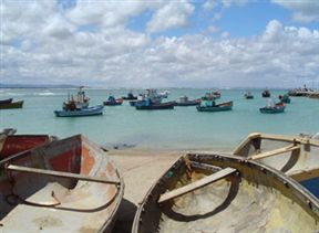 Struisbaai beach and fishing boats