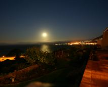 Full moon and night view from patio of both cottages