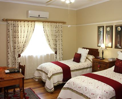 1 x 2 Single beds with Private bathroom, with TV, Aircon, Electric Blankets, Wall Heater, Wifi, Coffee/tea Facilities