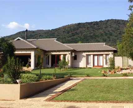 This is the main house which has five en-suite bedrooms with air-conditioning.
