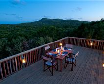 The viewing deck at Rocktail Beach Camp has great views across the indigenous dune forest out onto the ocean © Copyright - Wilderness Safaris. Our images are free for use by anyone as long as they are being used to promote Wilderness Safaris properties or safaris, and that credit is given to Wilderness Safaris