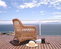 Shearwater Apartment has magnificent views across the sea to the mountains beyond.
