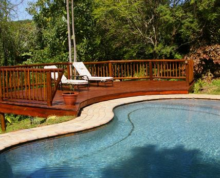 Deck and swimming pool